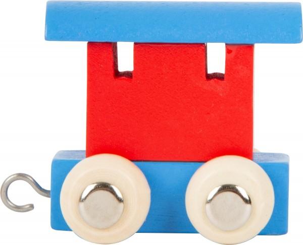 Buchstabenzug Endwaggon blau/rot