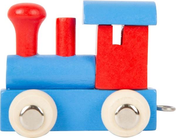 Buchstabenzug BUNT Lok blau/rot