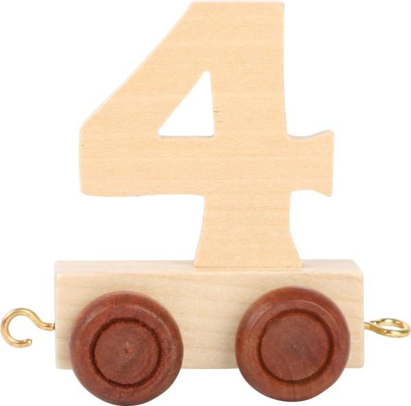 Buchstabenzug Zahl 4