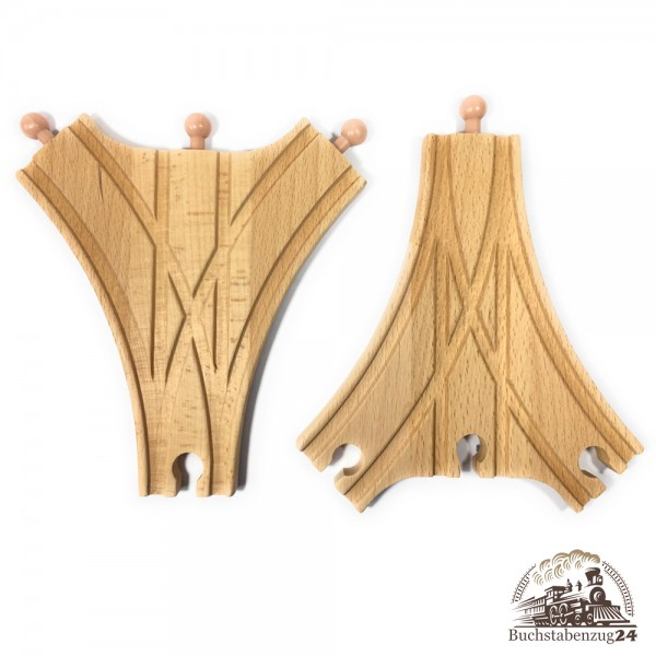 EbyReo Weiche 3-fach Paar [1 X rechts, 1 X links]